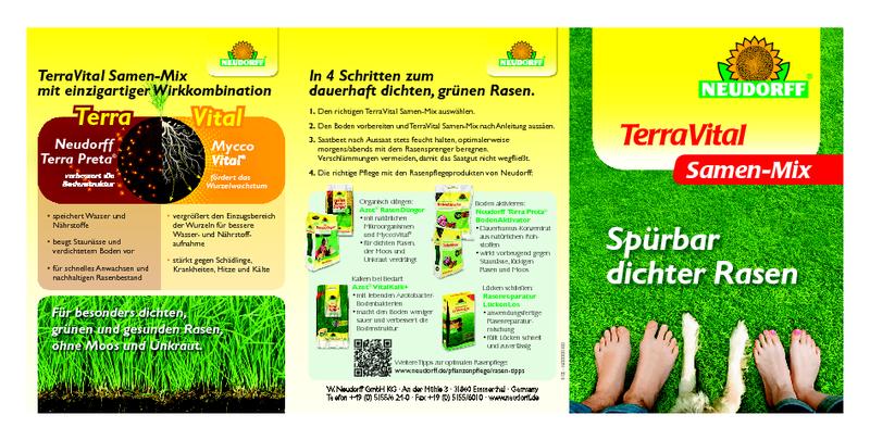 Neudorff TerraVital Licht/&SchattenRasen Samen-Mix 3 kg